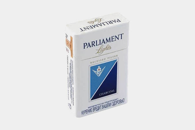 Сигареты Парламент Платинум Блю, parliament platinum blue: содержание никотина, смолы