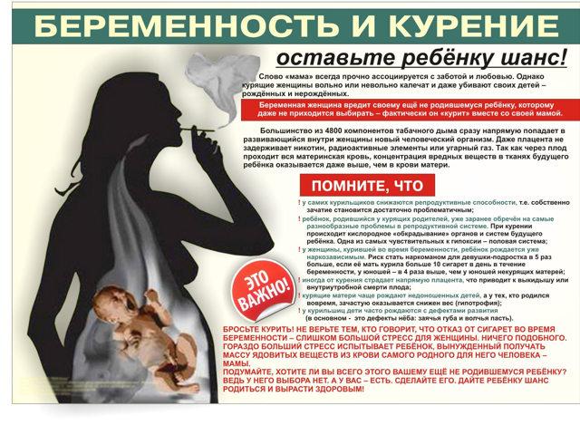 Как влияет курение на беременность: плод, организм