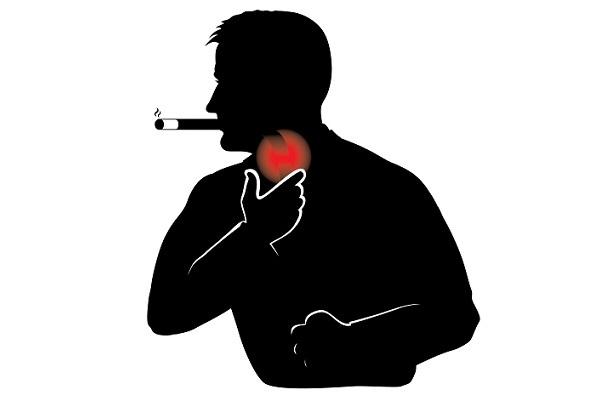 После курения болит горло: может ли, курильщика, дырка, почему, першит