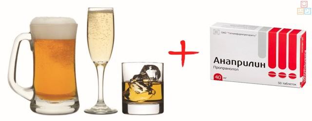 Анаприлин и алкоголь: совместимость, через сколько можно, последствия