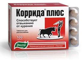 Коррида Плюс: инструкция по применению, таблетки от курения