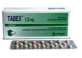 Табекс: побочные действия, противопоказания, таблеток, для женщин