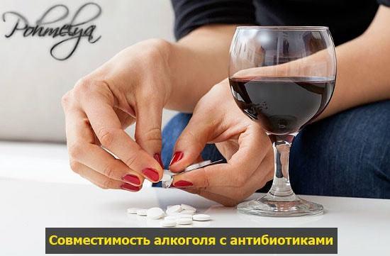Эритромицин и алкоголь: совместимость, через сколько можно, последствия