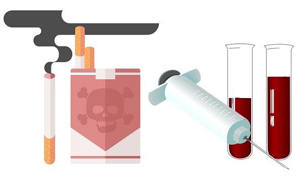 Можно ли курить перед сдачей крови: анализом, на сахар